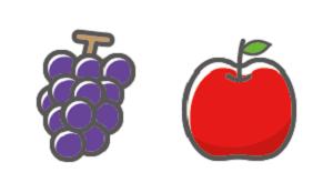 りんごのかわいいイラスト画像