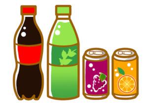 炭酸のジュースの画像