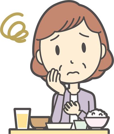 食欲がない女性のイラスト画像