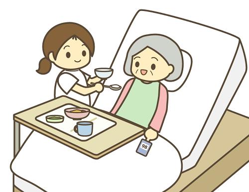 食事をする高齢者の画像