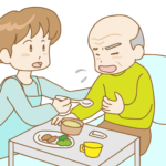 介護 正しくない食事の姿勢 誤嚥防止