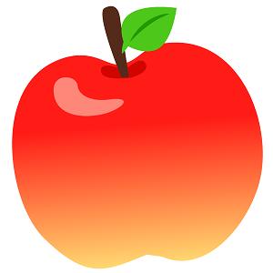 リンゴのイラスト画像