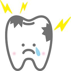 虫歯のイラスト画像