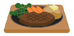 ステーキのイラスト画像
