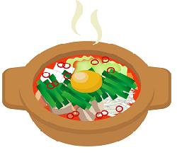 キムチ鍋のイラスト画像