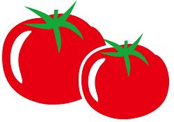 トマトのイラスト画像