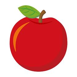 りんごのイラスト画像