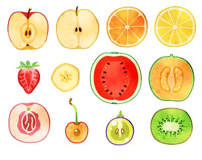 果物のイラスト画像