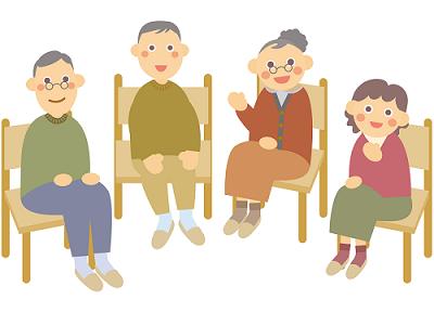 高齢者たちのイラスト
