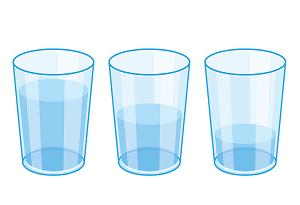 コップの水 イラスト画像