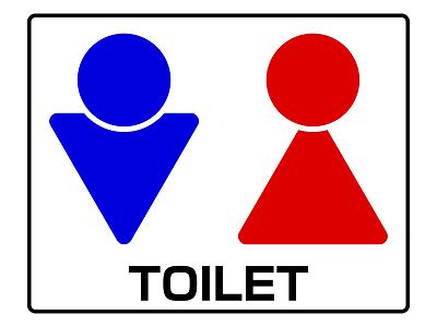 トイレマークのイラスト
